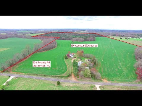129 Acre Farm for sale in Eastern Iredell County, NC in mid $600k price. VLOG # 133