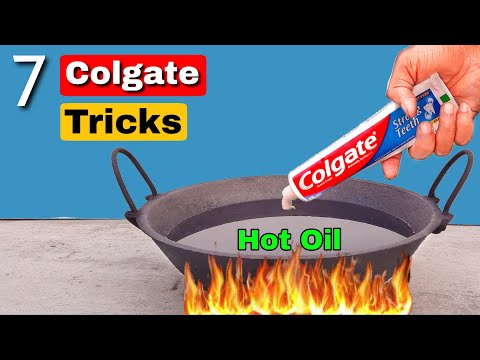 7 Crazy Colgate Experiments    Science Experiments With Colgate