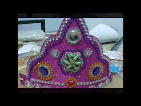 KRISHNA MUKUT DIY How to make Mukut | God ( crown / tahia in odia ) |