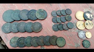 Видео №13 (шурф старого фундамента 37 монет)