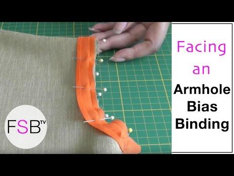 Facing an Armhole with Bias Binding thumbnail