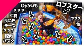 10000個のカラーボールに隠された食材で料理バトル!