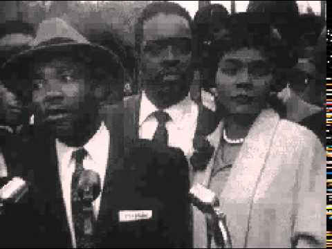 VINTAGE NEWS REEL martin luther king, montgomery, alabama, civil rights segregation