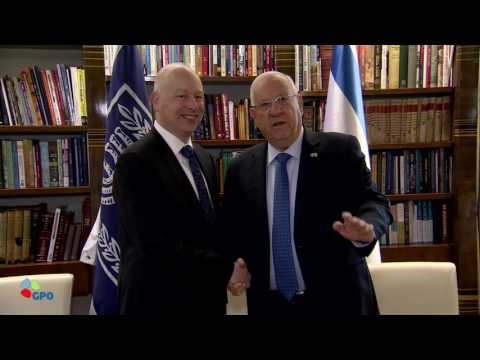 Reuven Rivlin meeting with US Middle East Envoy Jason Greenblatt on March 15, 2017