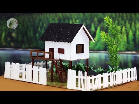 Popsicle Stick White House - DIY House Building Project