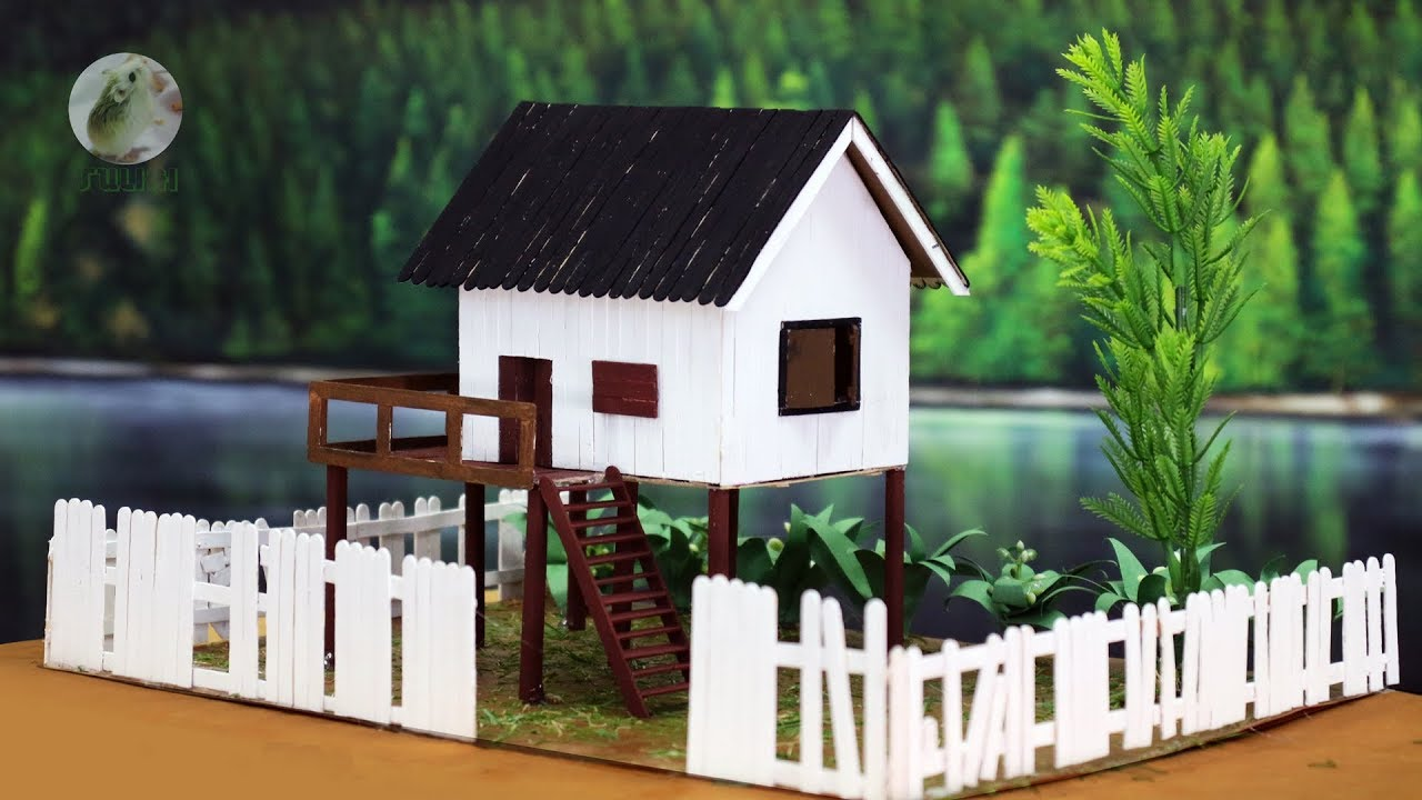 Popsicle Stick White House Diy House Building Project Youtube