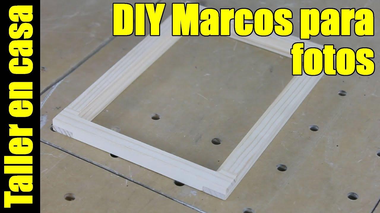 Como hacer marcos para fotos / Usando uniones a media madera - YouTube