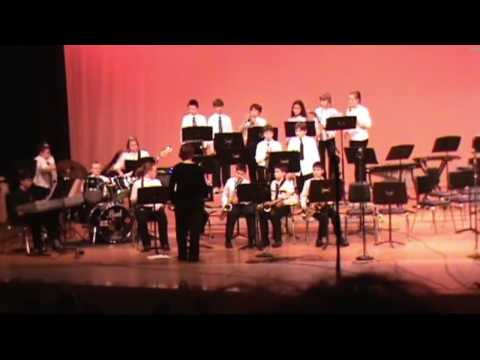Learning jazz band, Memorial Middle School, March 19, 2009