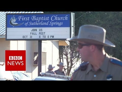 Texas church shooting: 'Half the congregation is gone' - BBC News