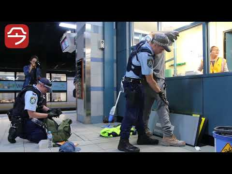Operation Hound in Hurstville and Wolli Creek train station