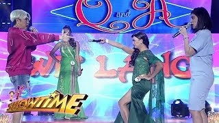 Video It's Showtime Miss Q & A: Vice and Ivy Aguas Avilla on a Wildflower scene download MP3, 3GP, MP4, WEBM, AVI, FLV September 2017