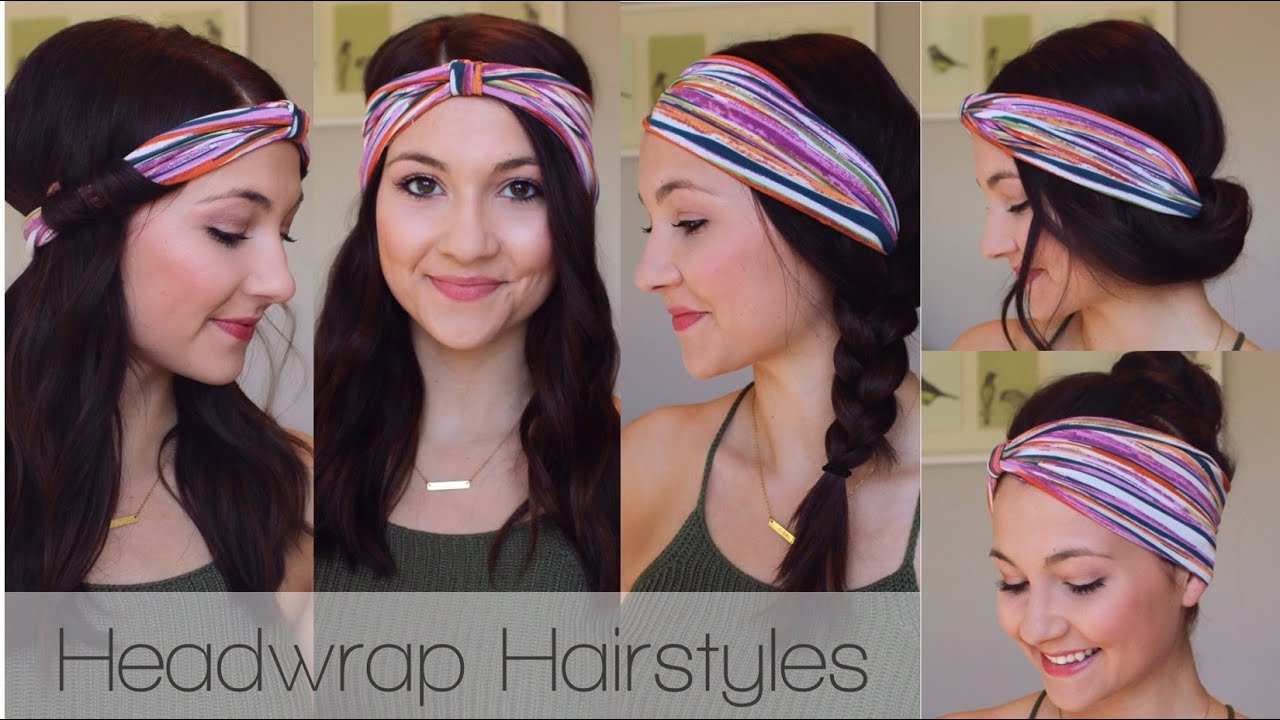 5 Headwrap Hairstyles Quick And Easy YouTube