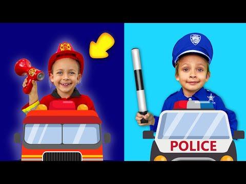 Мультфильм про пожарную машину и полицейскую