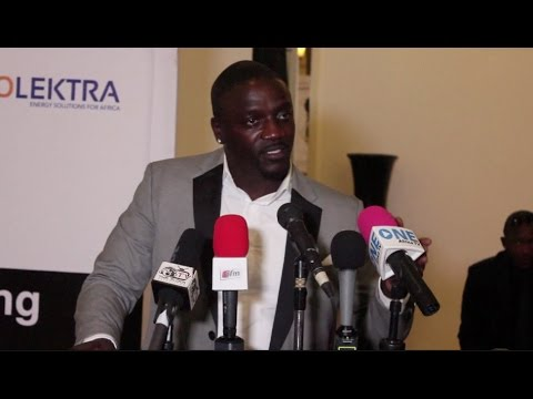 Akon visits The Gambia to promote solar lighting and youth empowerment
