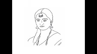 How to draw easy Anushka shetty face drawing step by step