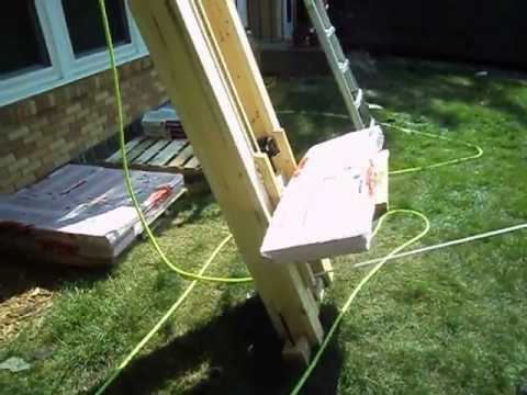 Home built roofing shingle lift youtube for Diy home elevator plans