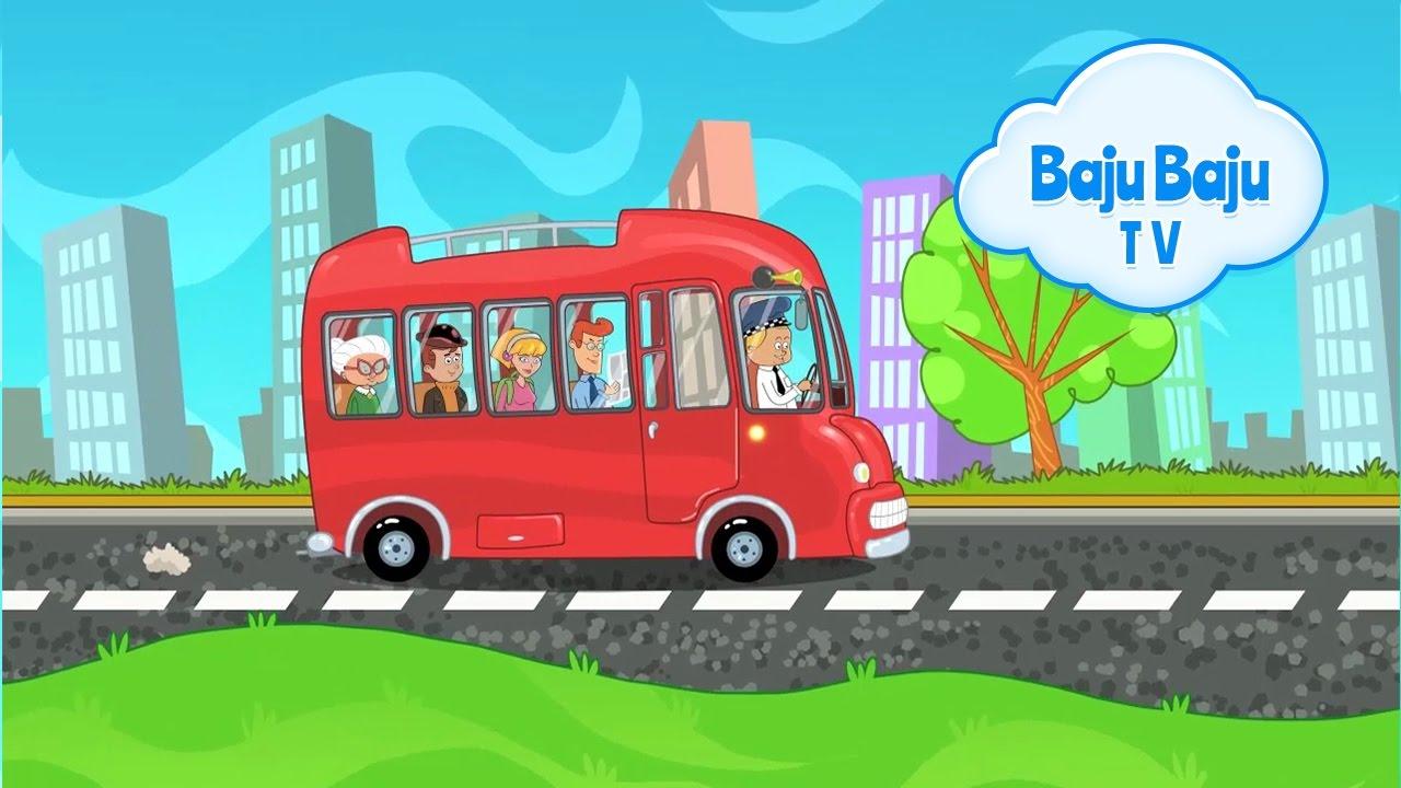 Koła Autobusu Kręcą Się Piosenki Dla Dzieci 45min Bajubajutv