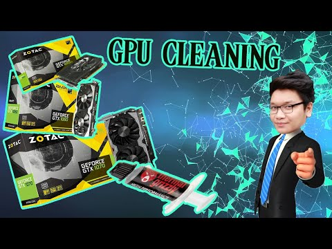How to Clean GTX 1060 , 1070 and 1080 GPU  | Graphics card  Fan and thermal paste replacement
