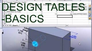 E16 Solidworks 2008 Excel Design Table