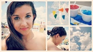 Waterproof / Sweatproof Makeup & Hair Tutorial | Waterpark Edition Thumbnail