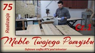 Dębowa szafka RTV pod telewizor Cz.1/ Oak TV cabinet