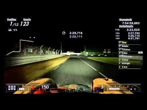 Lets Play Gran Turismo 5 / 24h Le Mans - Part 13 / flying through the night