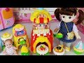 Baby Doll And Popcorn Shop Cooking Play Story - ToyMong TV 토이몽