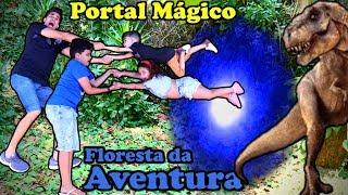 O Portal mágico: Floresta da Aventura | Novelinha | Dinossauros | Perdidos no parque | Jurassic