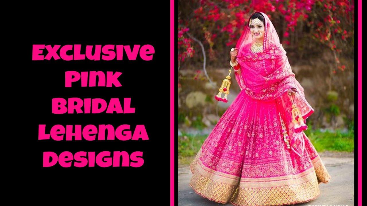 30f38a9cff Exclusive Pink Bridal Lehenga Designs - YouTube