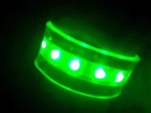 Видеозапись LED браслет - пробник
