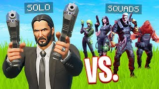 Solo vs Squads in Bounty Game Mode! (Fortnite Battle Royale)