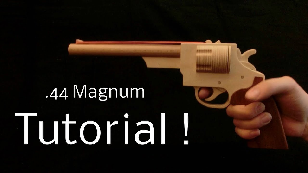 Tutorial 44 magnum rubber band gun youtube malvernweather Image collections