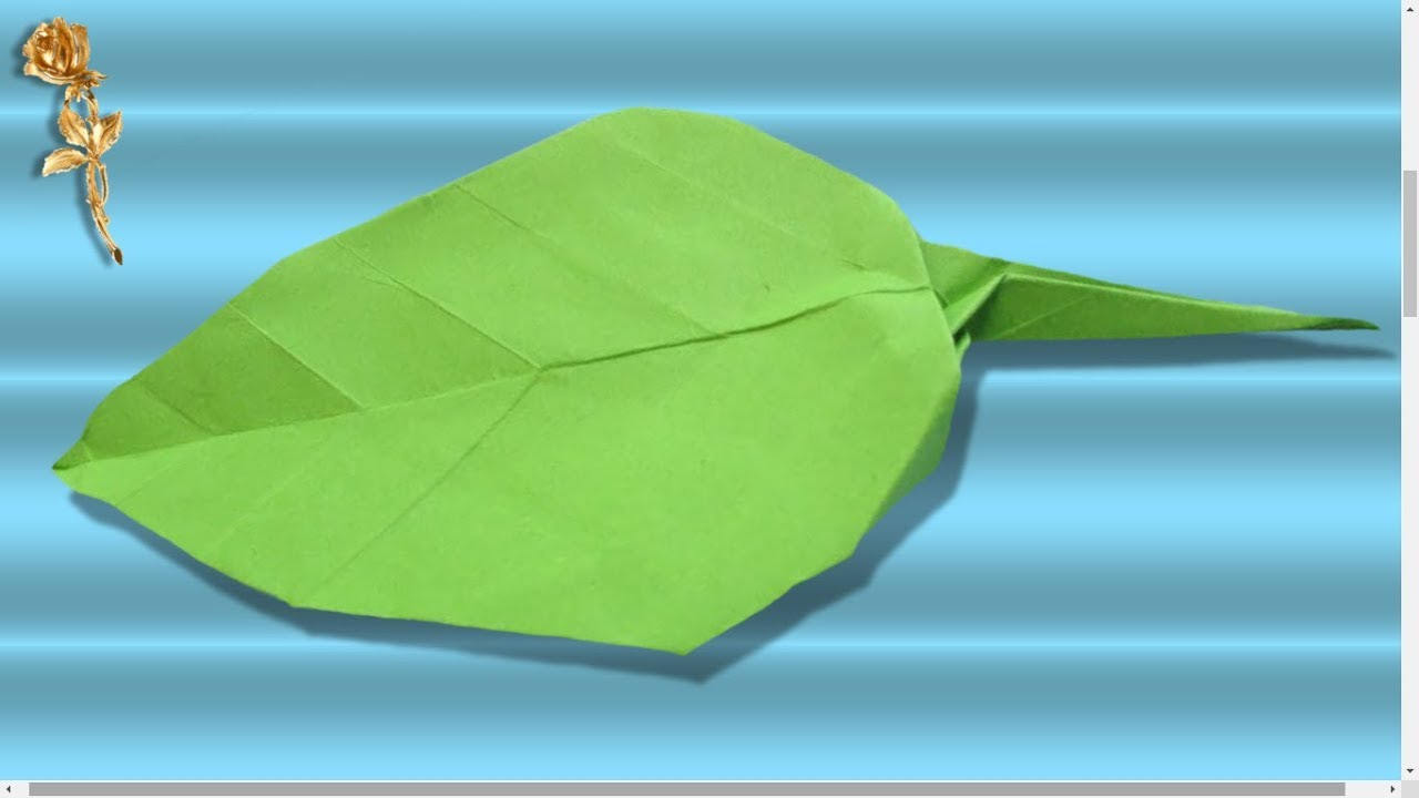 Origami Facile Feuille Youtube