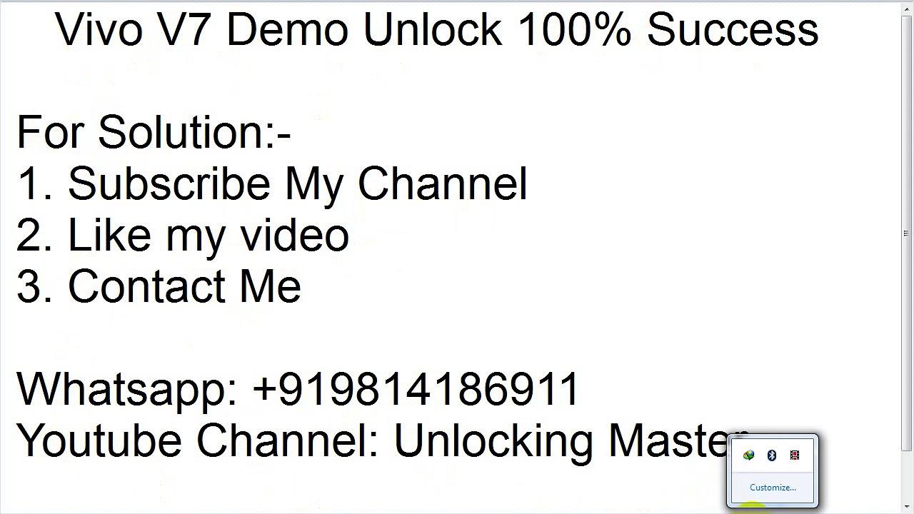 Vivo V7 (1718) Demo Unlock Solution | Vivo V7 (1718) Qcn File | 10000%
