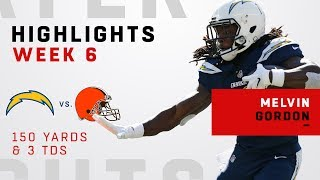 Melvin Gordon's Triple-TD Game vs. Browns