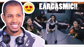 """KYLA, YENG, AND KZ COVER """"DOO-WOOP/CAN'T TAKE MY EYE OFF YOU"""" LIVE ON WISH 107.5 BUS REACTION"""