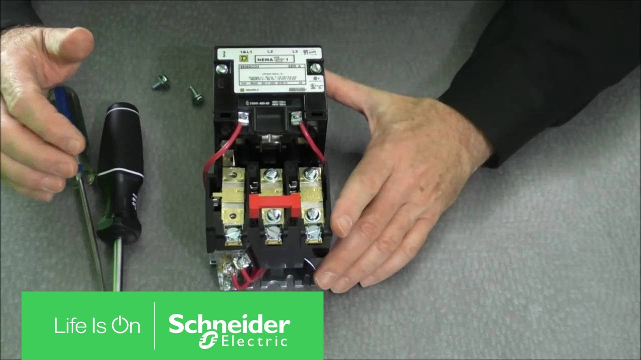 single phase contactor wiring diagram kenwood kdc 119 installing thermal units & auxiliary contacts on nema type s starters | schneider electric ...