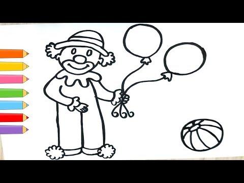 Download Palyaço Nasıl çizilir çocuklar Için Palyaço Boyama Ve