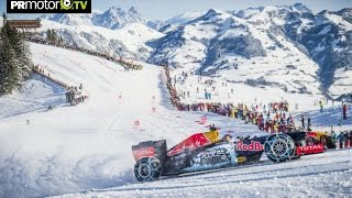 Material completo! Max Verstappen F1 Snow Demo Red Bull RB7 en el Hahnenkamm -  by PRMotor TV