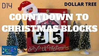 DIY Dollar Tree Countdown to Christmas Blocks
