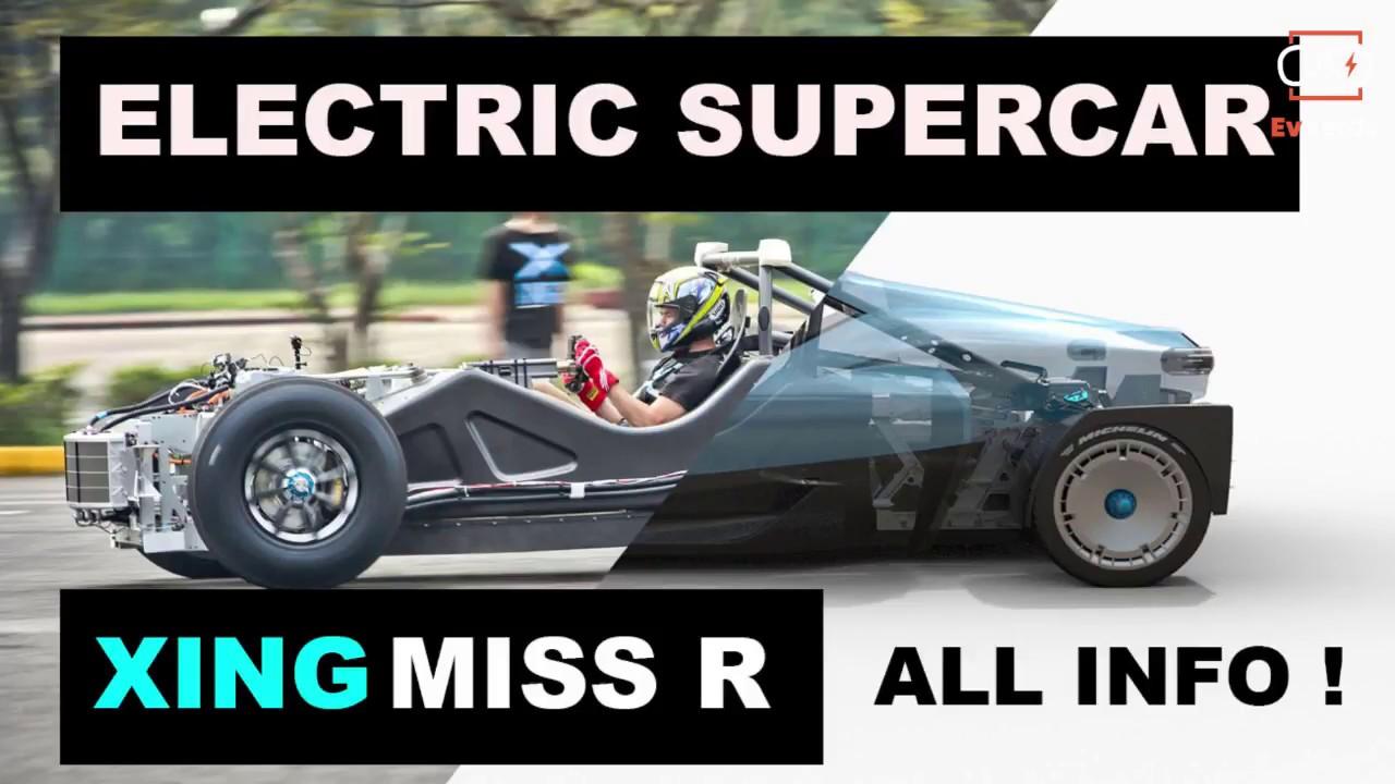 ELECTRIC XING MOBILITY MISS R CAR / TESLA ROADSTER KILLER / NOVATEC FLUID INSIDE FOR PERFORMANCE