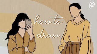 How to draw cartoon portrait | Picsart Tutorial