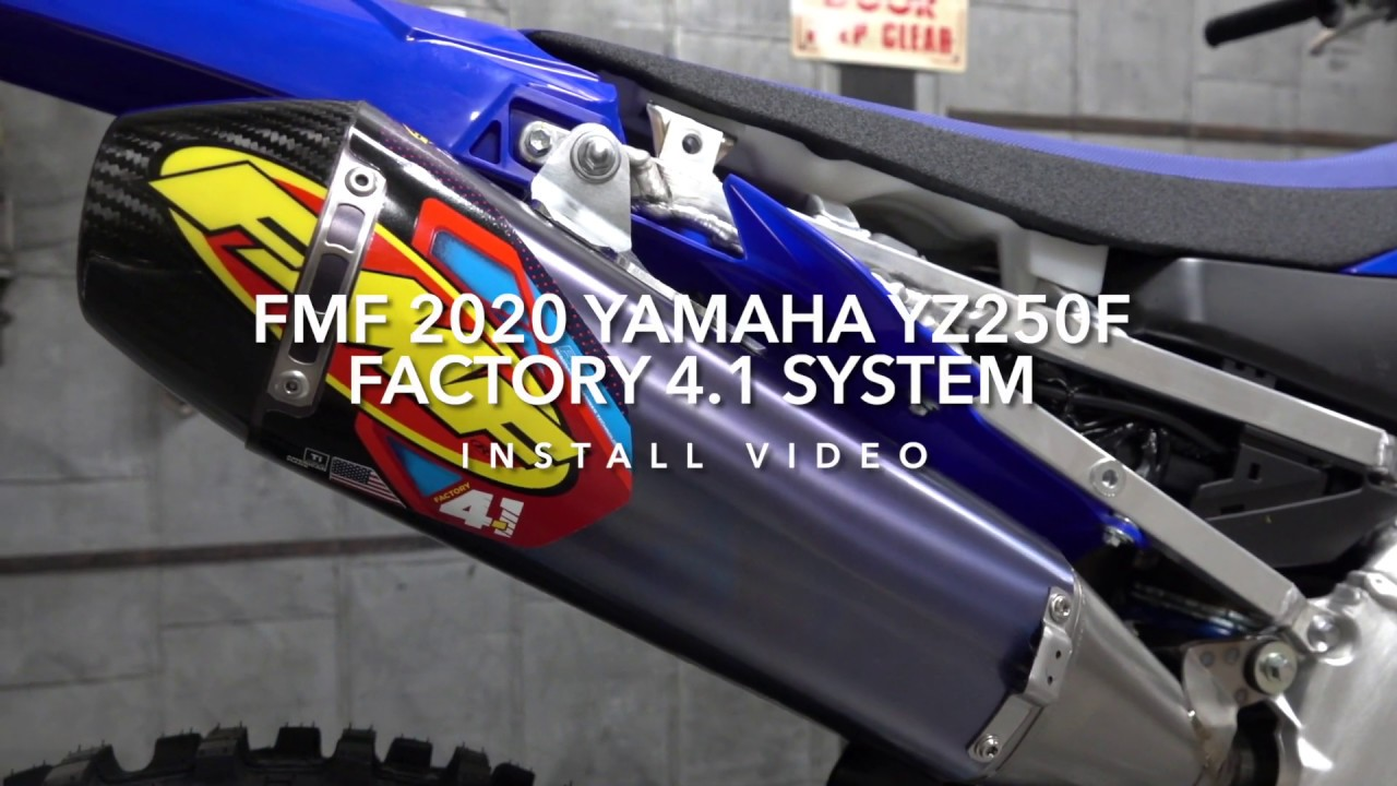 2020 yamaha yz250f fmf exhaust install video how to