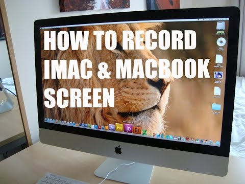 How to record screen on imac and macbook on OS X EL Captain