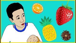 Муж красиво нарезает фрукты! Домашний влог;)