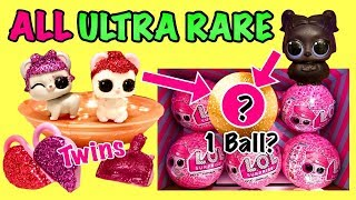 LOL Surprise SERIES 4 ALL ULTRA RARE Pets Found! GOLD Ball Placement & Weight | Find The Twins