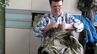 Абалаковский рюкзак. Полвека назад мечта каждого туриста.(Конструкция рюкзака известного альпиниста Абалакова. Подписывайтесь, не забывайте., 2016-10-01T14:28:25.000Z)