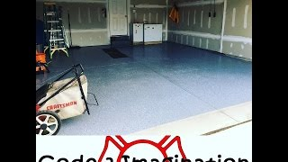 Garage RUST-OLEUM Epoxy Shield Floor Coating DIY