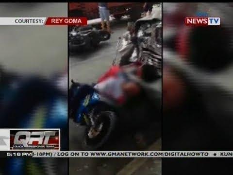 QRT: Rider, patay matapos maipit sa pagitan ng nagbanggaang jeep at delivery van