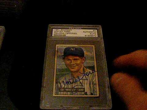 Vintage Autograph baseball cards